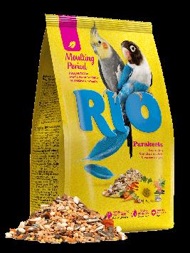 Рио Корм для средних попугаев в период линьки, 500 гр.