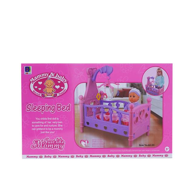 Кроватка музыкальная для кукол детская Musical Rocking Bed 8*40*56 - фото 5