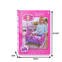 Кроватка музыкальная для кукол детская Musical Rocking Bed 8*40*56