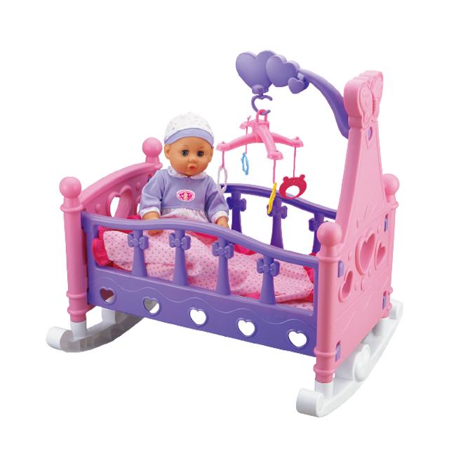 Кроватка музыкальная для кукол детская Musical Rocking Bed 8*40*56 - фото 2