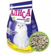 Наполнитель Алиса для длиношерстных кошек 4,6л