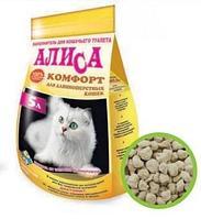 Наполнитель Алиса Комфорт для длинношерстных кошек 4,6л
