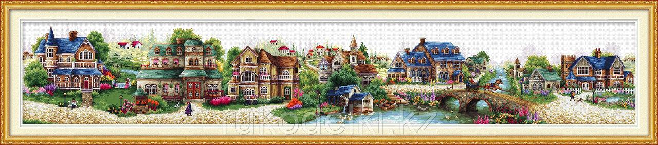 """Набор для вышивания крестом """"A green village"""""""