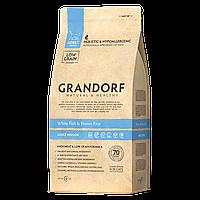 503404 GRANDORF White Fish Adult Indoor, сухой корм для взрослых кошек, белая рыба с бурым рисом, уп.400гр.