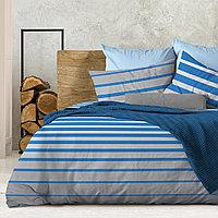 Wenge Комплект постельного белья Stripe Blue,  WENGE, 2 спальный евро