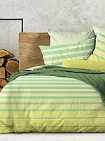 Wenge Комплект постельного белья Stripe Lime,  WENGE, 2 спальный евро