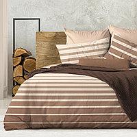 Wenge Комплект постельного белья Stripe Brown,  WENGE, 2 спальный евро