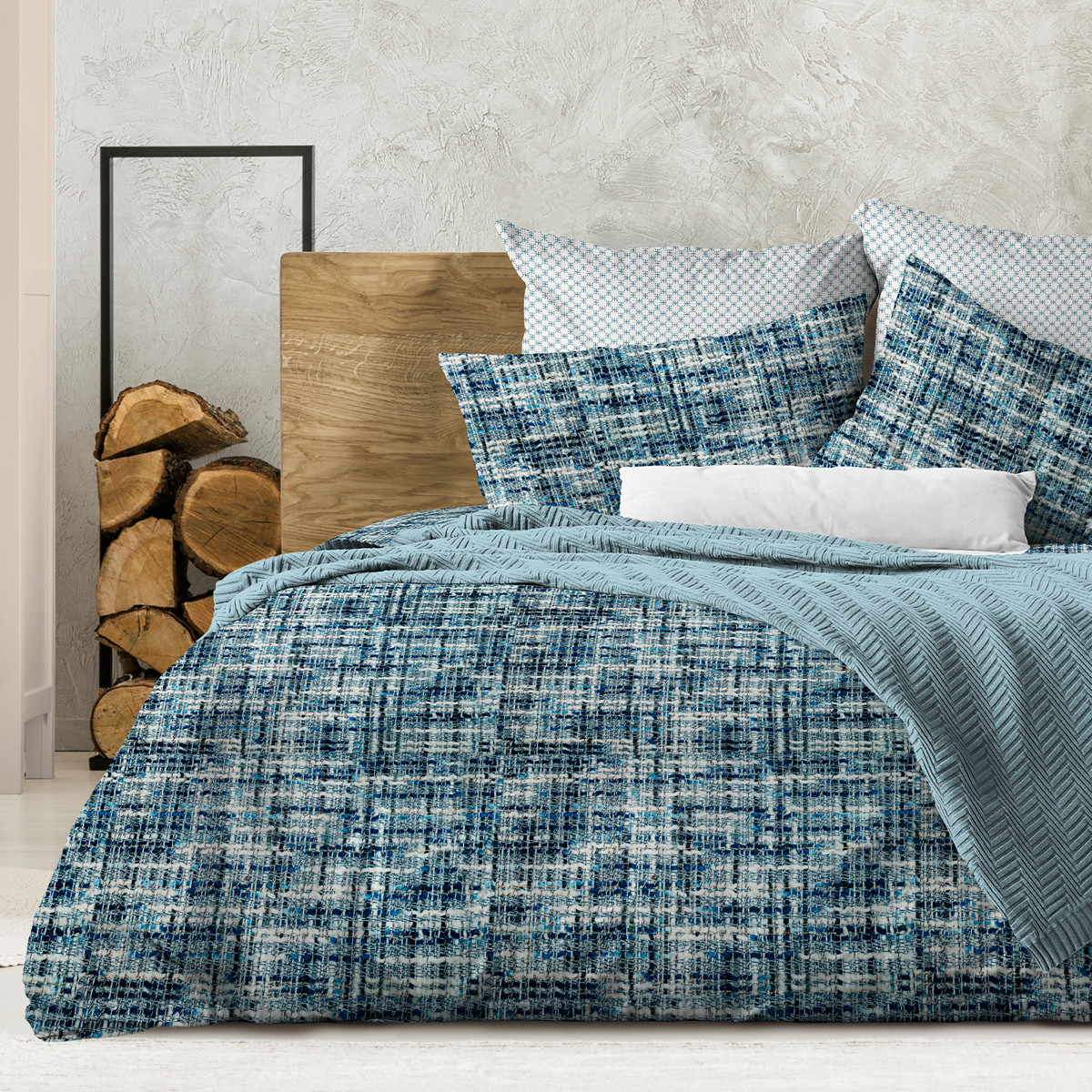 Wenge Комплект постельного белья Boucle, WENGE  1.5 спальный(наволочки 70х70) ,