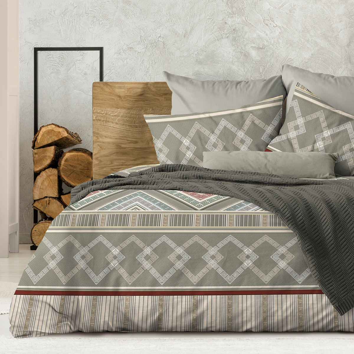 Wenge Комплект постельного белья  Ankara .  WENGE, 2 спальный евро (наволочки 70х70),