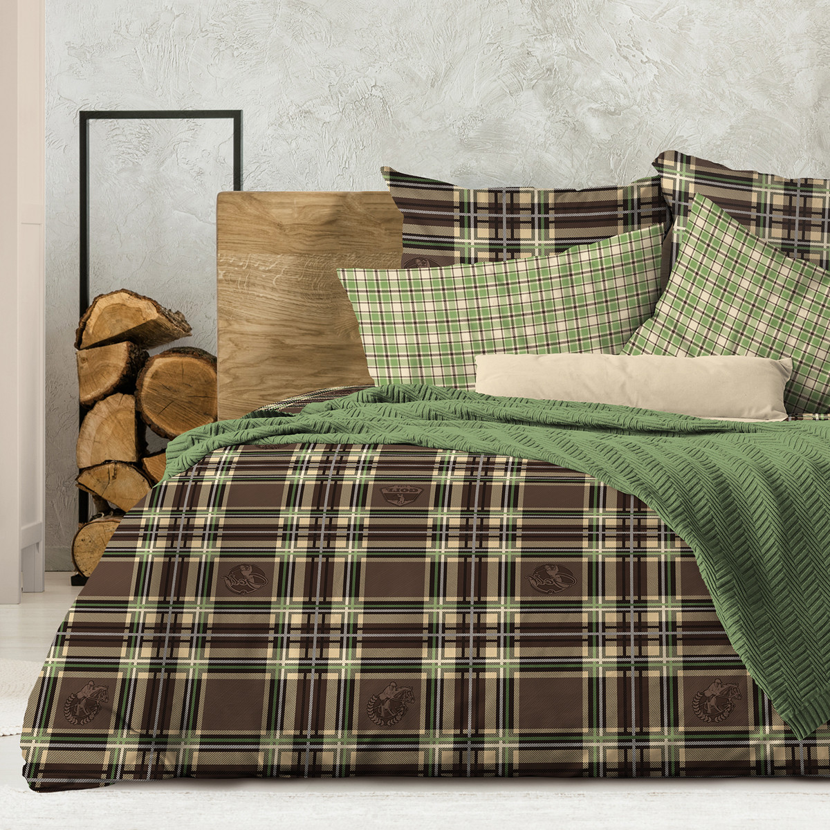 Wenge КПБ  Polo, WENGE  1.5 спальный(наволочки 70х70) ,