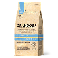 503022 GRANDORF White Fish Adult Indoor, сухой корм для взрослых кошек, белая рыба с бурым рисом, уп.2кг.