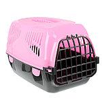"Переноска для животных ""Сириус"" 33,5 х 31 х 50 см, цвет розовый"