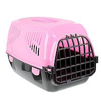 "Переноска для животных ""Сириус"" 33,5 х 31 х 50 см, цвет розовый, фото 1"
