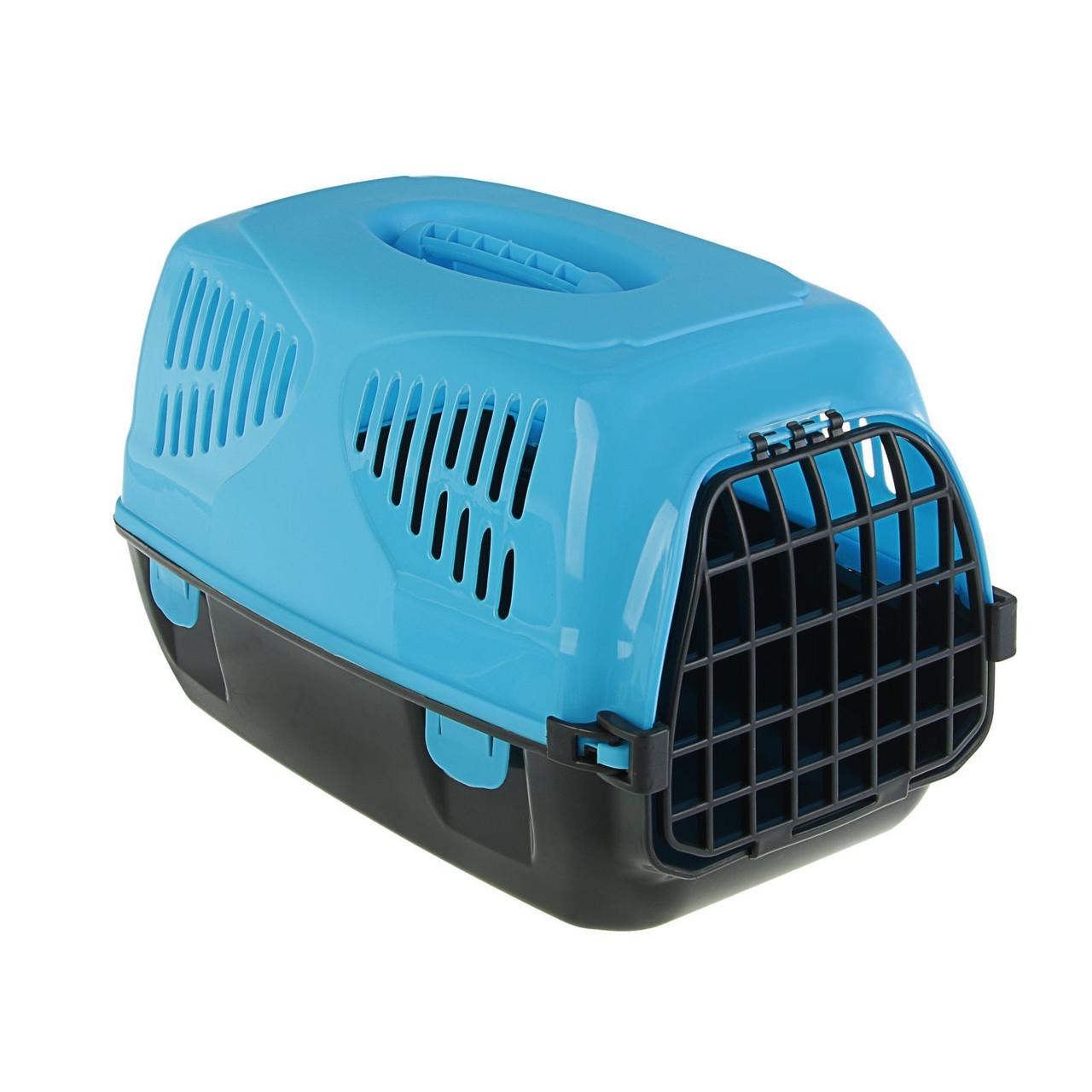 "Переноска для животных ""Сириус"" 33,5 х 31 х 50 см, цвет голубой"
