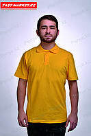 Желтая футболка поло в Казахстане