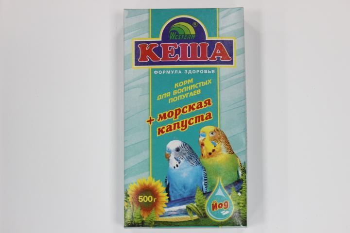 Кеша Корм для волнистых попугаев с морской капустой