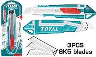 Нож строительный 169мм лезвие 18мм TOTAL арт.THT511836