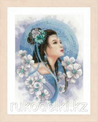 """Набор для вышивания крестом """"Asian lady in blue"""""""