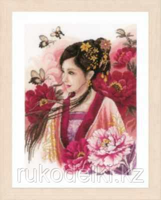 """Набор для вышивания крестом """"Asian lady in pink"""""""