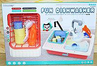 Немного помятая!!! 236A Набор посуды Fun DishWasher с раковиной и аксесс. 40*28, фото 1