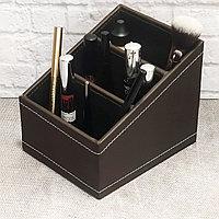 Органайзер для хранения косметики и мелочей универсальный 160*130*130 mm коричневый