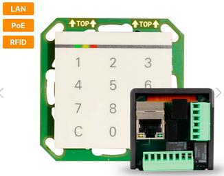 Cетевой считыватель для скрытого монтажа  StarterSet DoorLock-WA3-IP  MIFARE® DESFire)