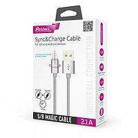 Кабель OLMIO USB 2.0 - MAGIC 5/8 (microUSB+lightning), 1м, 2.1А