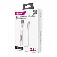 Кабель OLMIO USB 2.0 - Lightning, 2м, белый