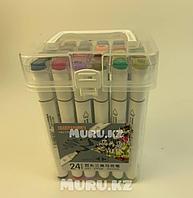 Набор маркеры для скетчинга Xuetong / рисования фломастеры 24 цвета двусторонние