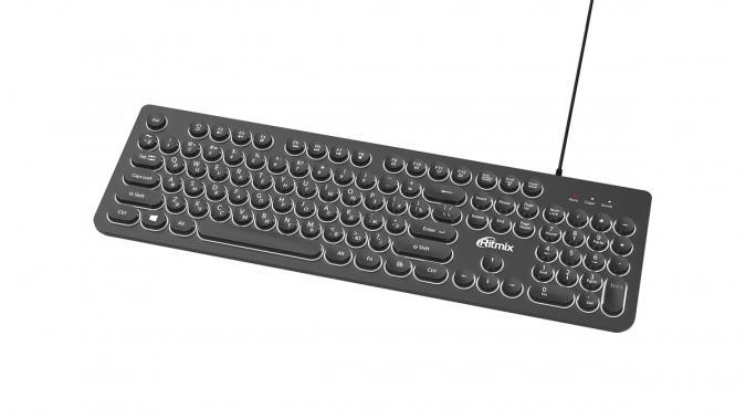 Клавиатура проводная Ritmix RKB-214BL черный