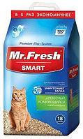 Mr. Fresh SMART наполнитель древесный комкующий для короткошерстных кошек 18 литров