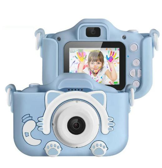 Детский цифровой фотоаппарат GSMIN Fun Camera Kitty со встроенной памятью и играми.