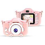Детский цифровой фотоаппарат GSMIN Fun Camera Kitty со встроенной памятью и играми., фото 2