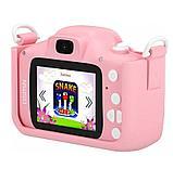 Детский цифровой фотоаппарат GSMIN Fun Camera Kitty со встроенной памятью и играми., фото 4