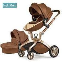 Коляска Hot Mom F22 2в1 темно-коричневый
