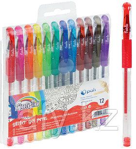 Ручка гель с блестком 12цветов