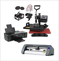 Универсальный термопресс 8 в 1 + Принтер для сублимационной печати + Режущий плоттер