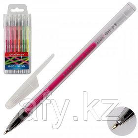 Ручка гель неон 6 цветов