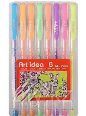 Ручка гель неон 8 цветов