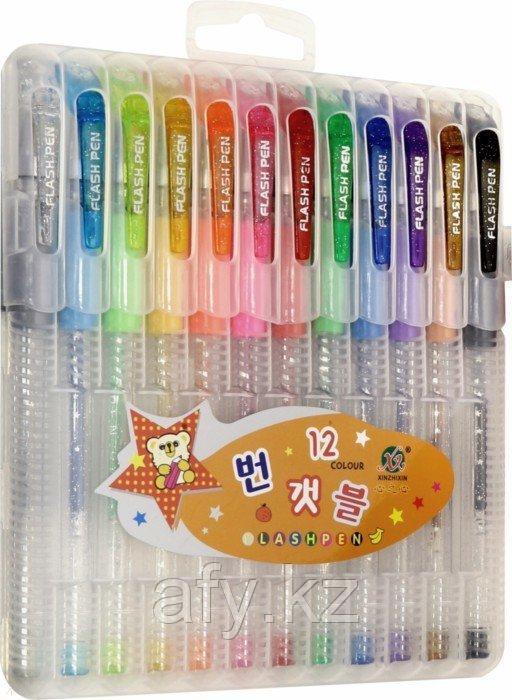 Ручка гель с блеском 8 цветов