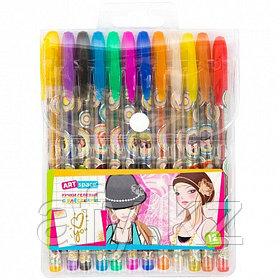 Ручка гель с блестком 12 цветов