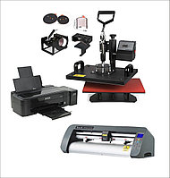 Универсальный термопресс 6 в 1 + Принтер для сублимационной печати + Режущий плоттер
