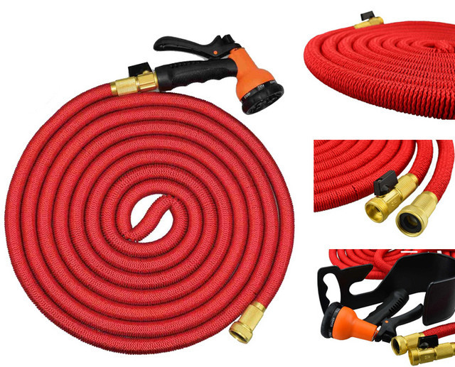 ✅ УЛЬТРА КАЧЕСТВО - Шланг для полива саморастягивающийся 30 м, шланг с распылителем, magic hose