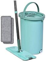 Набор для влажной уборки Hand-free Mop XXL {швабра и большое ведро с механизмом отжима + насадки}