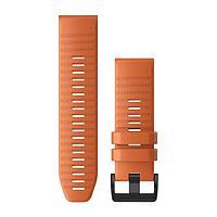 Ремешок Garmin QuickFit 26 для GPS часов Fenix 5X/6X силикон оранжевый