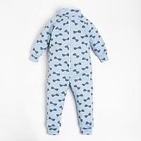 Комбинезон детский, цвет голубой, рост 86-92 см