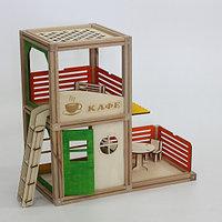 Деревянный магнитный конструктор WOODJO КАФЕ 57 элементов. Домик для кукол