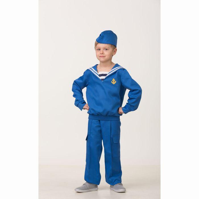 Карнавальный костюм «Матрос», (матроска, брюки, пилотка), размер 38, рост 152 см - фото 1