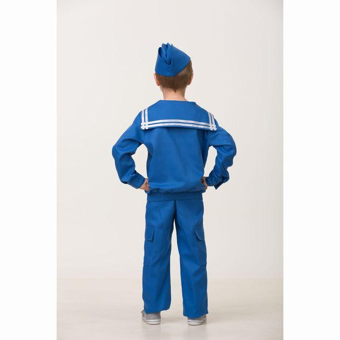 Карнавальный костюм «Матрос», (матроска, брюки, пилотка), размер 38, рост 152 см - фото 2