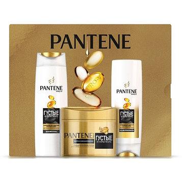 Подарочный набор Pantene «Густые и крепкие»: шампунь, 250 мл + бальзам-ополаскиватель, 200 мл + маска, 300 мл